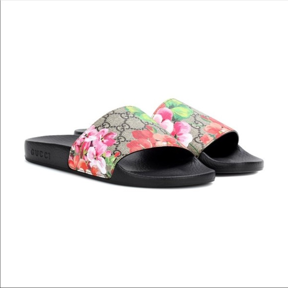 9be579052624 Gucci Shoes - GG Blooms Supreme slide sandal